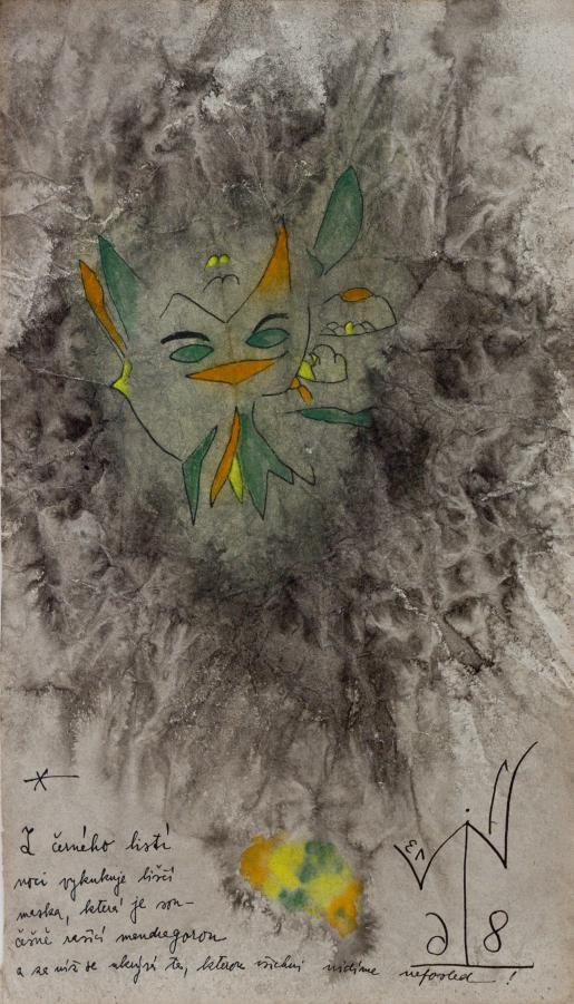 Z černého listí noci vykukuje liščí maska, která je současně rašící mandragorou a za níž se neskrývá ta, kterou všichni uvidíme naposled!